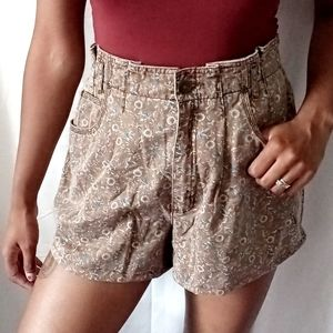 LIZWEAR | vintage brown floral shorts 415
